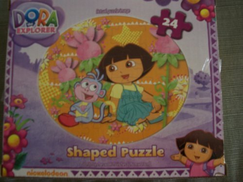 Dora the Explorer Shaped Jigsaw Puzzle ~ Dora & Boots (24 Pieces) - 1