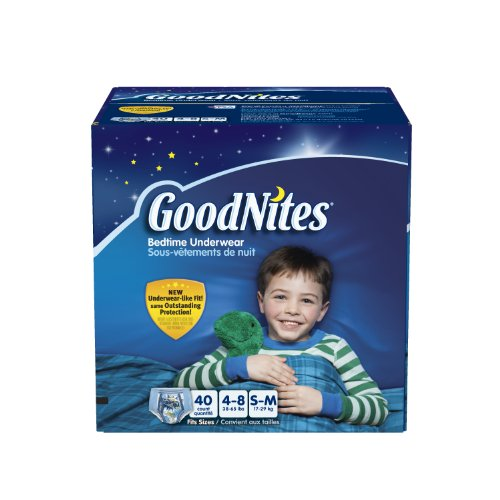 Huggies GoodNites Youth Pants for Boys, SM, 40 Count