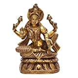 Indian Arts Shop Goddess Lakshmi Brass (5.08 Cm X 11.18 Cm X 18.8 Cm, )