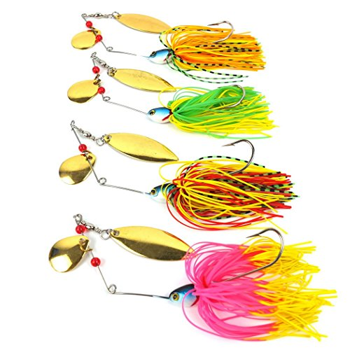 Aorace 4pcs/Lot 17g Pesca Spinner Baits Fly Fishing Lure For Fishing Tackle Isca Artificial Wobbler Spinnerbait Jig Carp Fishing Lures