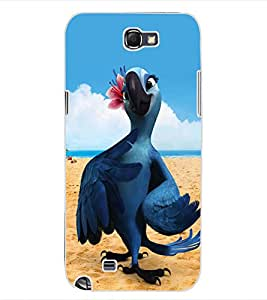 ColourCraft Cute Parrot Design Back Case Cover for SAMSUNG GALAXY NOTE 2 N7100