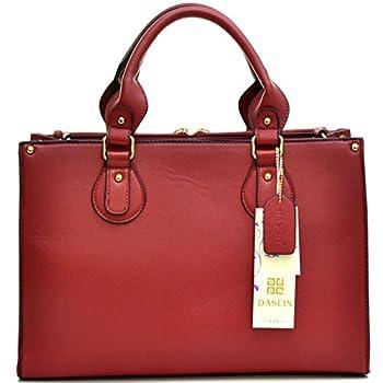 Dasein Fashion Padlock Briefcase Satchel Handbag, Tablet, iPad Bag
