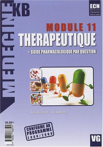module 11 , thérapeutique