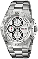Titan Octane Chronograph White Dial Men's Watch - NE9308SM01J
