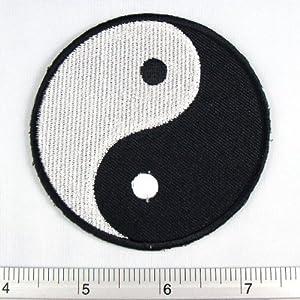 "Yin Yang Feng Shui Iron on Patch Embroidered Racing DIY T-shirt Jacket 2.5x2.5"""