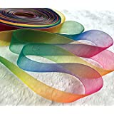 Black Menba 50 Yards Satin Ribbon Seven Colors Of The Rainbow Color Gift Wrap Ribbons Wedding Decoration