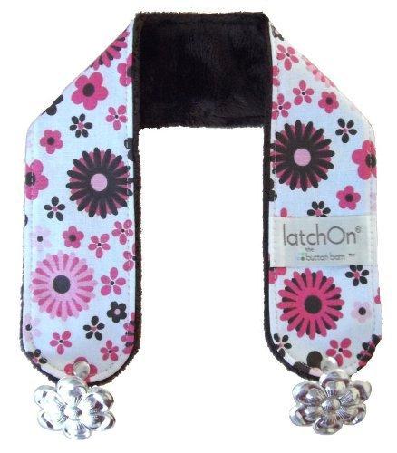 LatchOn Nursing Blanket Strap - turns any blanket into a nursing cover (Minky Pink Floral)
