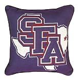 "NCAA Stephen F. Austin State University Logo Tapestry Throw Pillow 17"" x 17"""