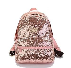 Travel bags Mochila Women Bag paillette bling bag (Pink)   Amazon.com