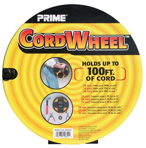 Prime Wire & Cable CR002002 Cord Storage Wheel, Black