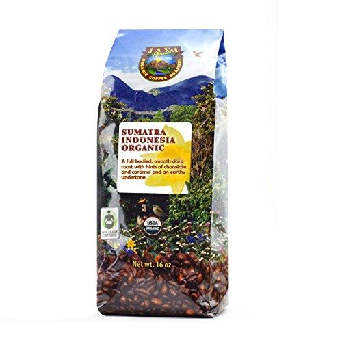 Java Planet - Sumatra Indonesian USDA Organic Coffee Beans, Dark Roasted, Fair Trade, Arabica Gourmet Specialty Grade A - 1lb bag (Sumatra Hot Sauce compare prices)