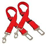 Lantelme 2 Stück Set Hundegurt Adapter rot 5590 . Auto