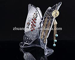 Clear crystal butterfly earring holder stand Make up jewelry organizer storage box bag Cosmetic make-up transparent ACRYLIC By Celebration
