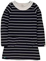 Hatley Girls 2-6X Kids A-Line Dress Navy Stripes, Blue, 8