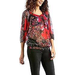 Desigual - BLUS_MIMI, Camicetta da donna, multicolore (fresa 3001), 34/XS (Taglia produttore: S)