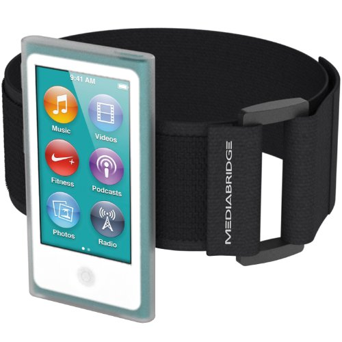 Armband for iPod Nano - 7th Generation / 8th Generation ( Clear ) - Model AB1 by Mediabridge (Part# AB1-IPN7-CLEAR ) (Ipod Nano Headphone Jack compare prices)
