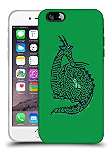 Snoogg Green Dragon Designer Protective Back Case Cover For IPHONE 7