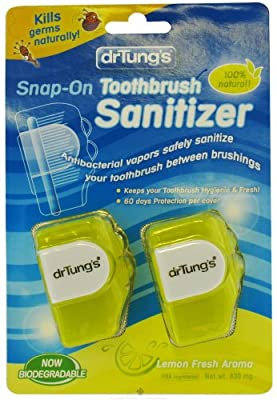Dr. Tung's Adult Snap on Toothbrush Sanitizer, 72 Count
