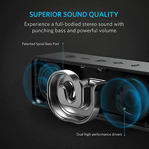 Anker SoundCore Bluetooth Speaker with 24-Hour Playtime, 66-Foot