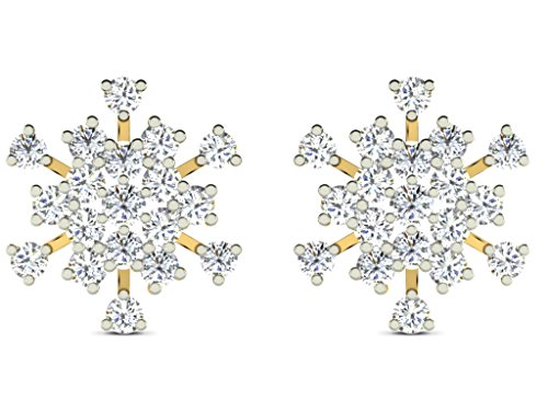0.6 Cts Sparkles Diamond Earrings in Sterling Silver & Natural Diamonds