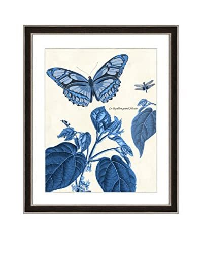 Art Source Blue Garden Scene Print II
