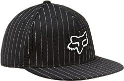 Fox Men's The Steez Fitted Hat, Black Pinstripe, Small/Medium