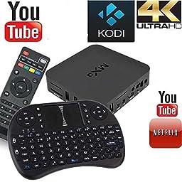 E Vigilia (TM) MXQ Amlogic S805 Quad Core Xbmc Tv Box Android 4 + wireless keyboard