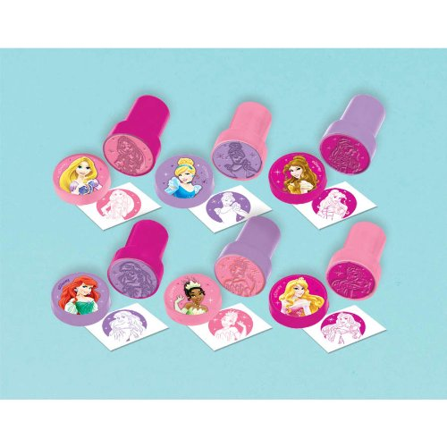 "Amscan Disney Princess Sparkle Stamper, Pink/Light Pink/Purple, 1"" x 1 1/2"""
