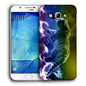 Snoogg Neon Tiger Walking Printed Protective Phone Back Case Cover For Samsung Galaxy Note 5