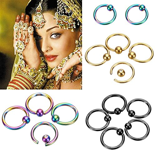 Yshare® 20pcs 16G Stainless Steel Nose Hoop Ring Eyebrow Nipple Bars Rings Earring Body Piercing Studs Slave Jewelry 4 colors Review