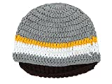 Warm Winter Crochet/ Bearded Beanie Hats Caps for Kid's, Gery