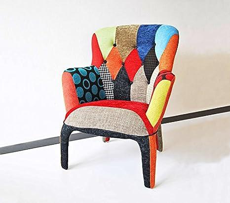 """Poltrona design in tessuto patchwork """"Sbarazzina""""_Poltrona patchwork_Spedizione gratuita su pallet"""