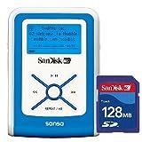 SanDisk デジタルオーディオプレーヤー sansa e100 512MB ブルー SDカード128MB付 SDMX2-512B-J65A-S