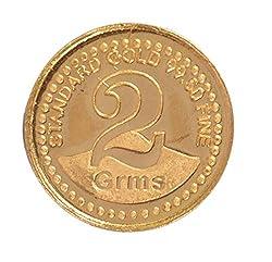 A Himanshu BIS Hallmarked 2 grams 24k (995) Yellow Gold Precious Coin