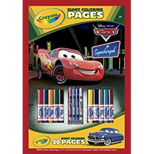 Crayola Coloring Pages on Crayola Disney Giant Coloring Pages With Sticks Cars   Toys   Games
