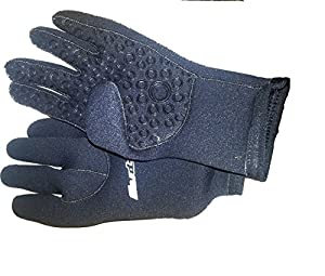 (XSmall) TWF WETSUIT SURF GLOVES. NEOPRENE GLUED & BLIND STITCHED VELCRO CUFF
