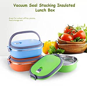buy vacuum seal stacking insulated lunch box stainless steel thermal insulati. Black Bedroom Furniture Sets. Home Design Ideas