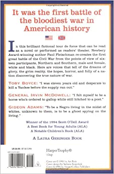 a book report on bull run by paul fleischman Winner of the scott o'dell award for historical fiction  ala best book for young  adults  ala notable children's bookin this brilliant fictional tour de fo.