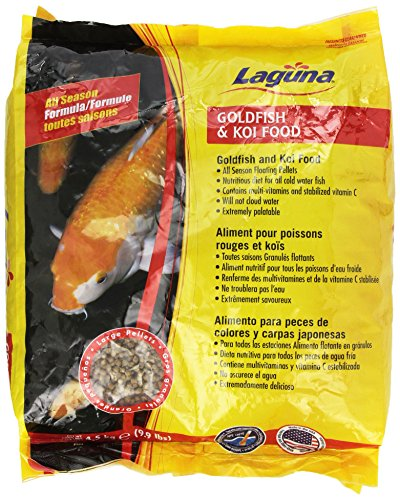 Laguna goldfish koi floating food large pellet 9 9 pound for Koi fish food for sale