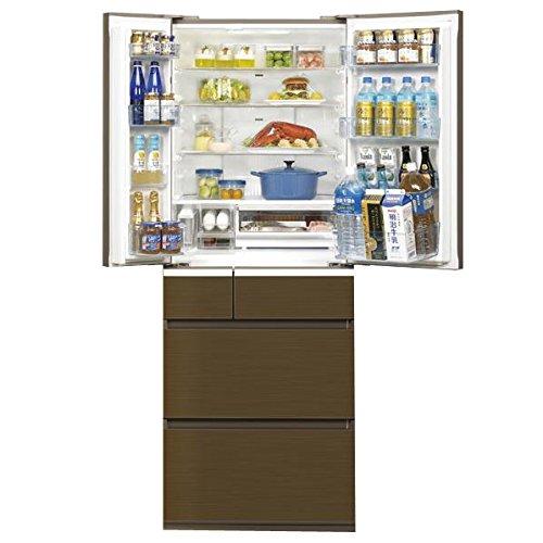 パナソニック 508L 6ドア冷蔵庫(アンバーブラウン)Panasonic エコナビ ナノイー フルフラットガラスドア NR-F510PV-T