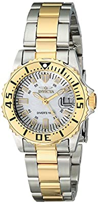 "Invicta Women's 17385SYB ""Pro Diver"" Stainless Steel and 18k Gold Ion-Plated Watch"