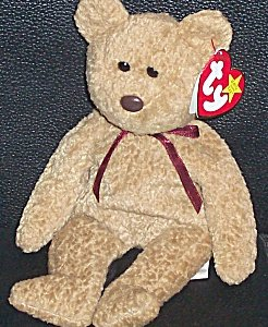 TY Beanie Baby - CURLY the Brown Nappy Bear - 1