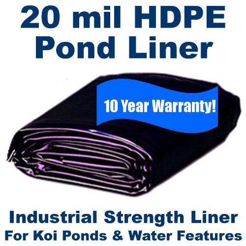 5 x 9 20mil HDPE Liner for Koi Ponds Industrial Containment Commercial Lakes
