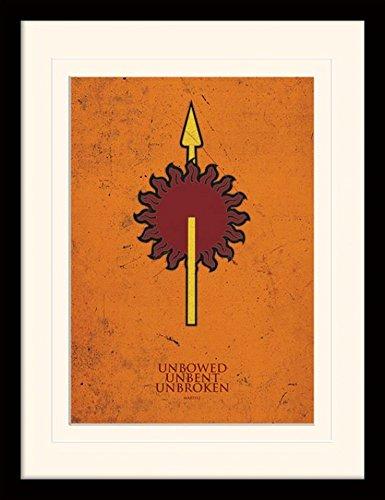 1art1-101559-game-of-thrones-martell-gerahmtes-poster-fur-fans-und-sammler-40-x-30-cm