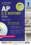 Kaplan AP U.S. History 2016: Book + DVD