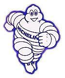 ミシュラン / ミシュランマン(ムッシュ ビバンダム) ステッカー(MICHELIN Sticker Blue X White type E)MLサイズ ( Eタイプ)