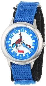 Marvel Kids' W000111 Spider-Man Stainless Steel Time Teacher Watch