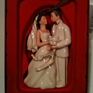 Lenox 2008 Bride & Groom Christmas Ornament