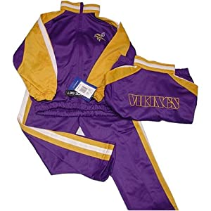 Minnesota Vikings NFL Kids Child Embroidered Jogging Suit Set (Size 5-6) By Reebok by Reebok