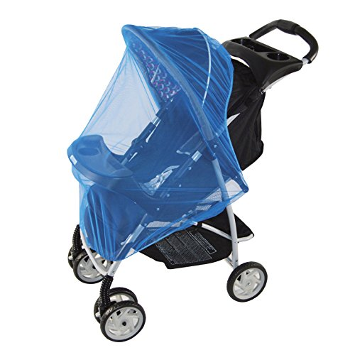 Blue Mosquito Net for baby Strollers, Carriers, Car Seats, Cradles, Pack'n'Plays, Cribs, Bassinets & Playpens. 44 x 48 Inch, High Density Baby Insect Netting (blue) (Pack N Play Netting compare prices)